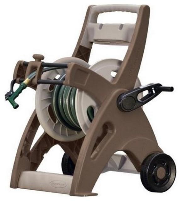 Suncast JTT175B Hose Mobile Hose Reel Cart, 175u0026#039; Transitional Garden