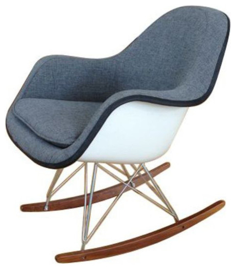 white eames fiberglass rocker 700 est retail 400 on chairish