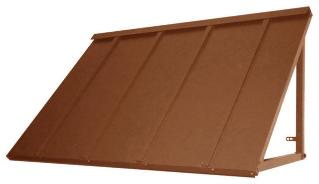 Awntech&x27;s 4&x27; Houstonian Metal Standing Seam Awnings, 56 Wx24 Hx24 D Copper.