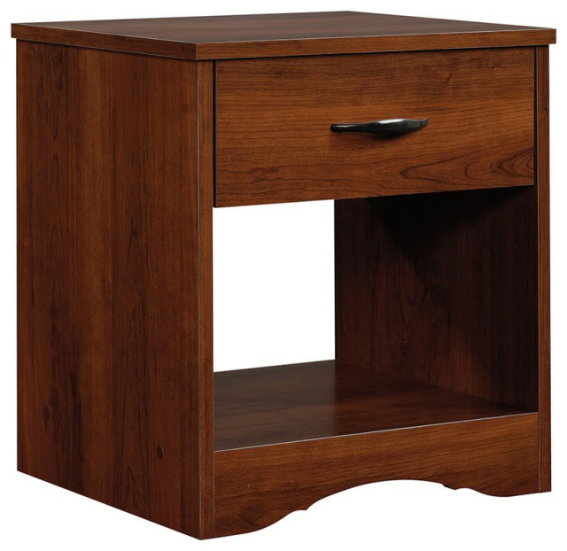 Hawthorne Collections 1 Drawer Wood Nightstand in Light Brown and Gray