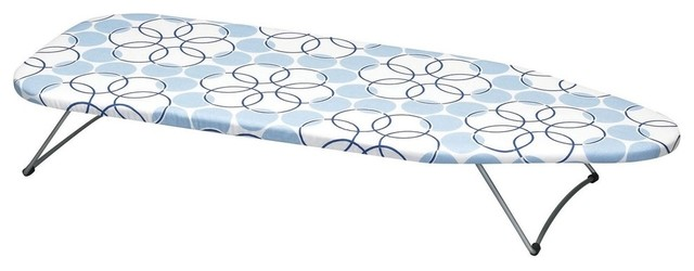Tabletop Ironing Board With Magic Rings Cover.