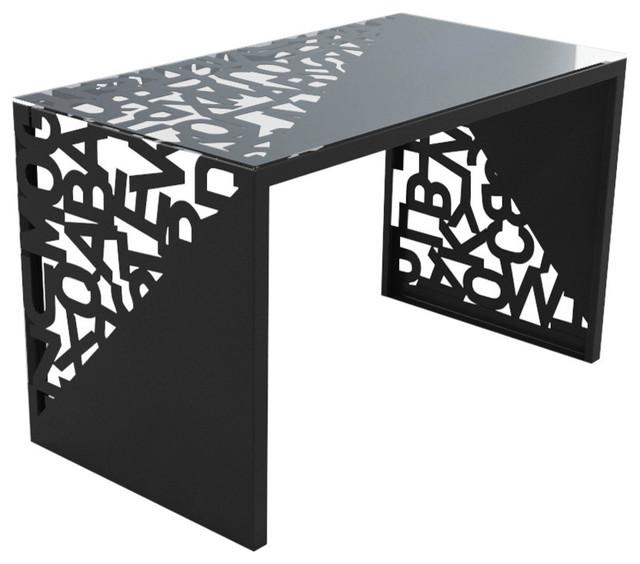 Mabele Kattedra Triangle Letters Desk, Black, Small.