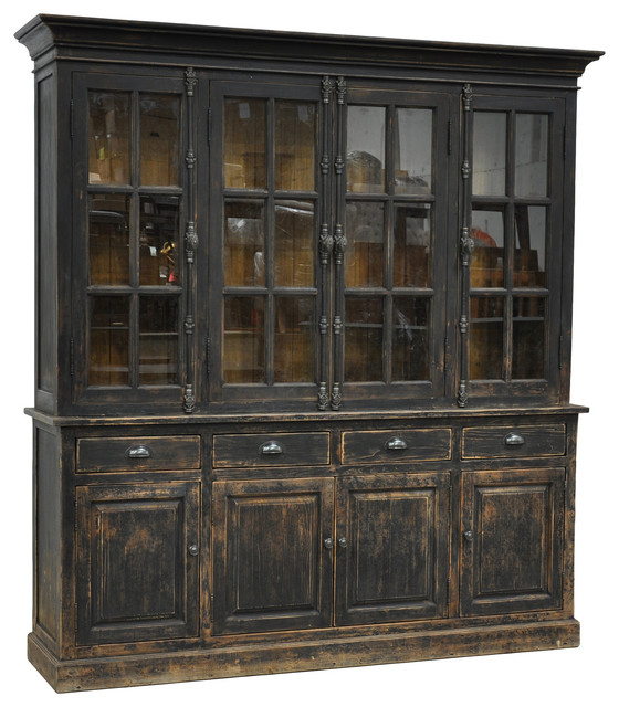 Classic Home Furniture Windsor Hutch Cabinet Black Area Rugs By Rustic Edge
