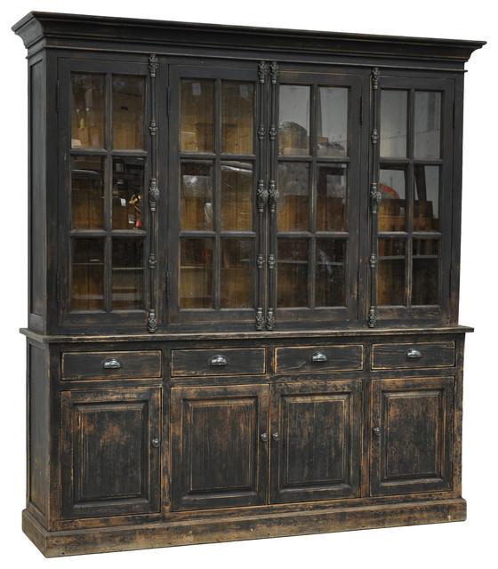 Classic Home Furniture Windsor Hutch Cabinet Black