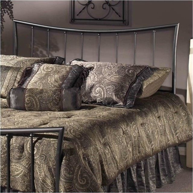 Hawthorne Collections Full/queen Metal Spindle Headboard, Pewter.