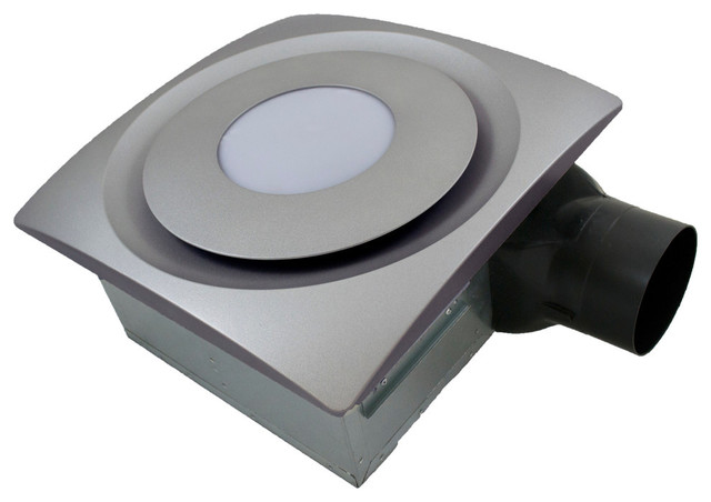 Slim Fit Bath Fan With Led And Humidity Sensor, Satin Nickel, 120 Cfm.
