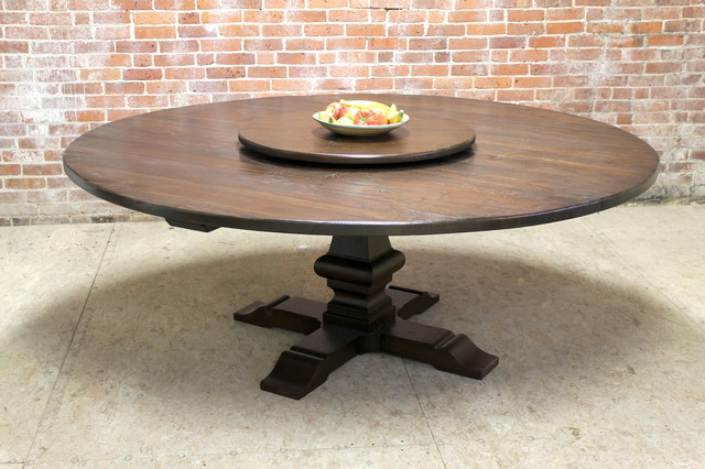 80 Quot Large Round Table With Pedestal And Lazy Susan
