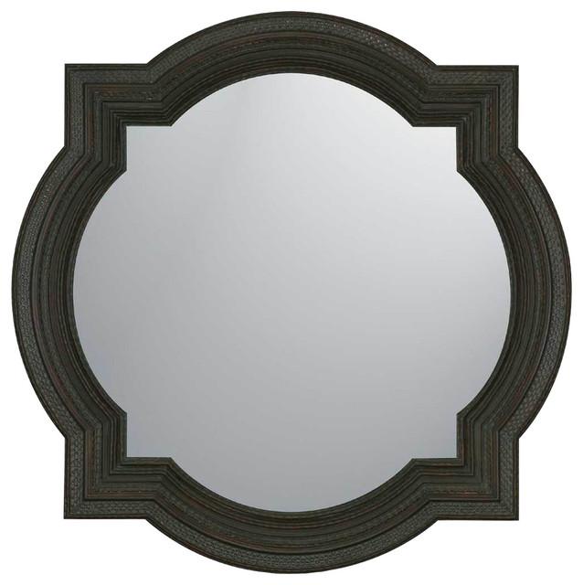 Arabesque Wall Mirror, Dark Wood Finish