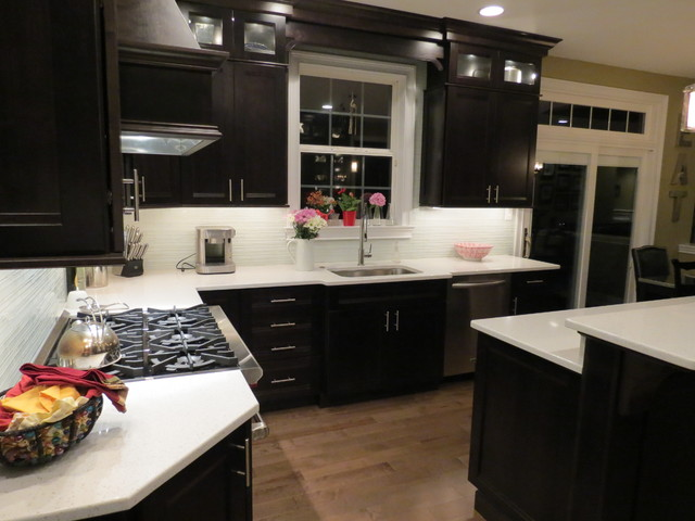 Kitchen Remodel With Dark Cabinets Transitional Philadelphia