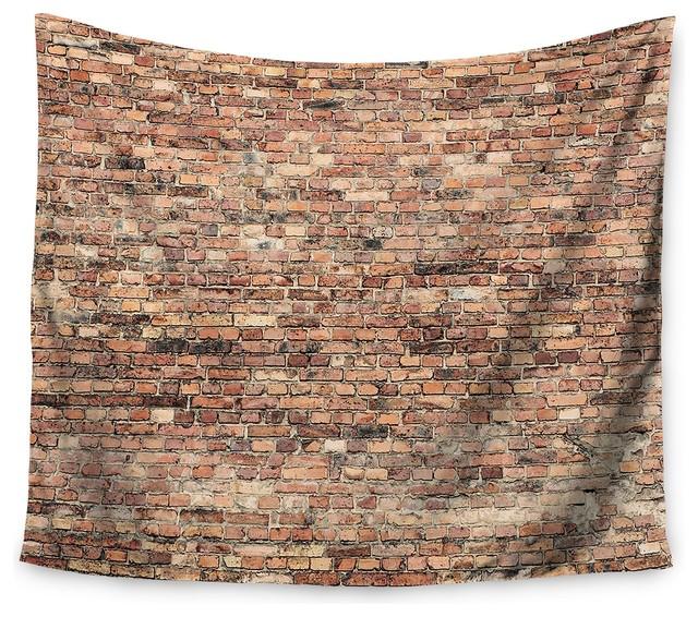 "Rustic Rugs Topeka Ks: ""Rustic Brick Wall"" Wall Tapestry"