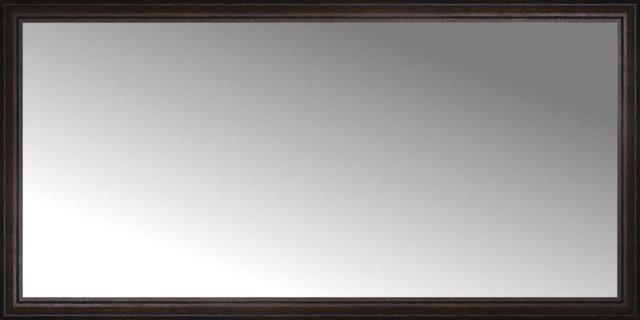 72 X36 Custom Framed Mirror Distressed Brown