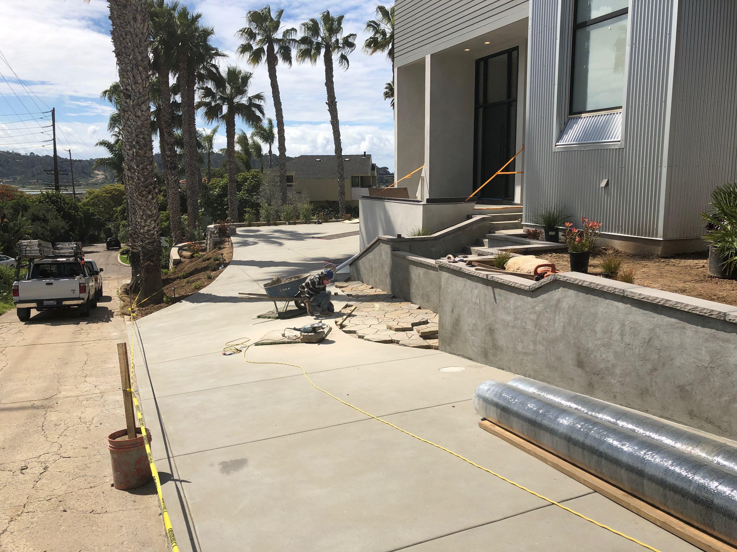 Installing Belgard Pavers in the Driveway