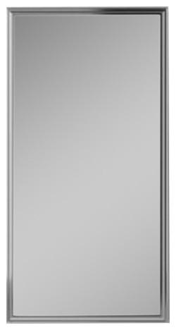 """Penn Valley 19""""x30"""" Framed Cabinet, Gray Interior, Non-Handed, Satin Nickel."""