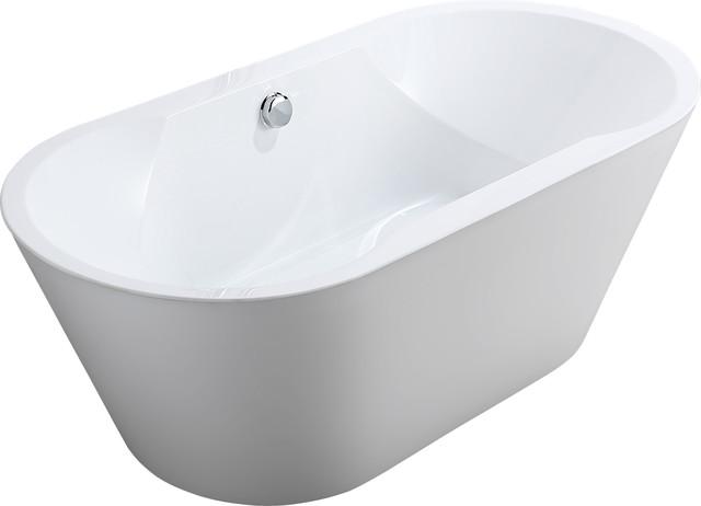 Vanity Art Free Standing Acrylic Bathtub Modern