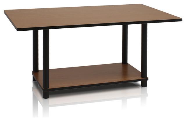 Furinno Turn-N-Tube Coffee Table, Dark Cherry/black.