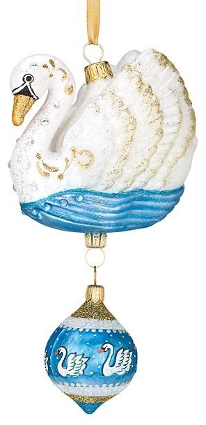 7 swans a swimming ornament christmas ornaments