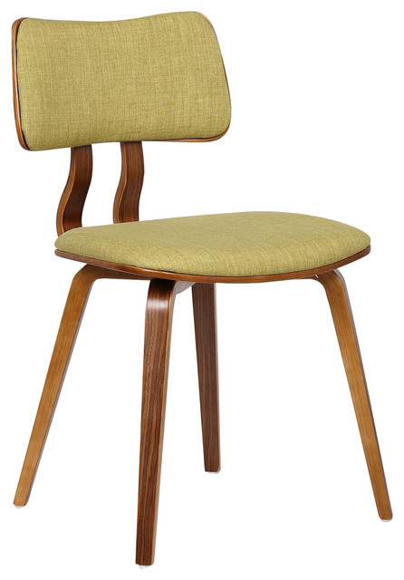 Pleasant Mick Dining Chair Walnut Wood And Green Fabric Ibusinesslaw Wood Chair Design Ideas Ibusinesslaworg