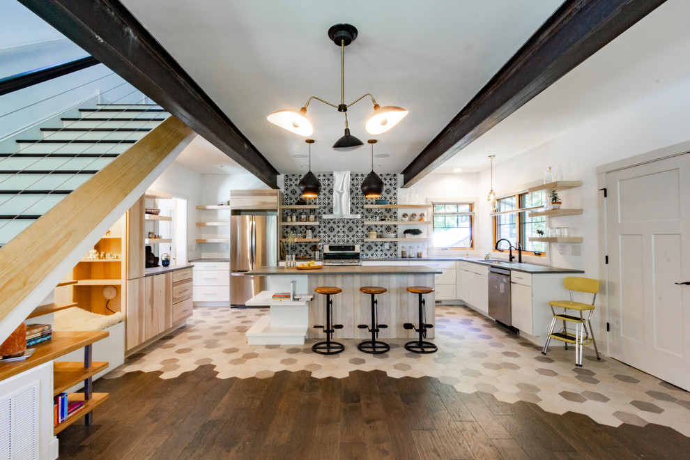 Home design - large transitional home design idea in Other