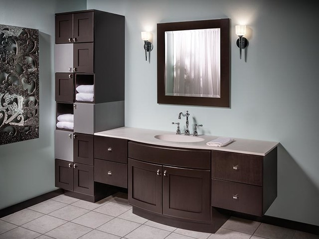 bathroom built in cabinets bertch custom size bath cabinetry osage modern 10989