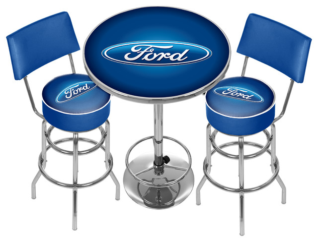 Ford Game Room Combo 2 Stools With Back And Table
