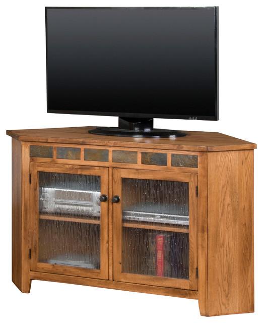 Sedona Corner Tv Console Craftsman Entertainment