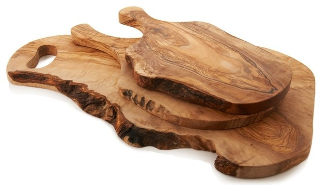 olive wood cutting board  rustic  cutting boards  by tuscan,