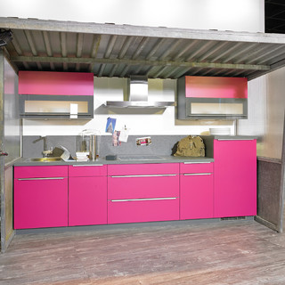 Beautiful Küche In Pink Contemporary - Ideas & Design 2018 ...
