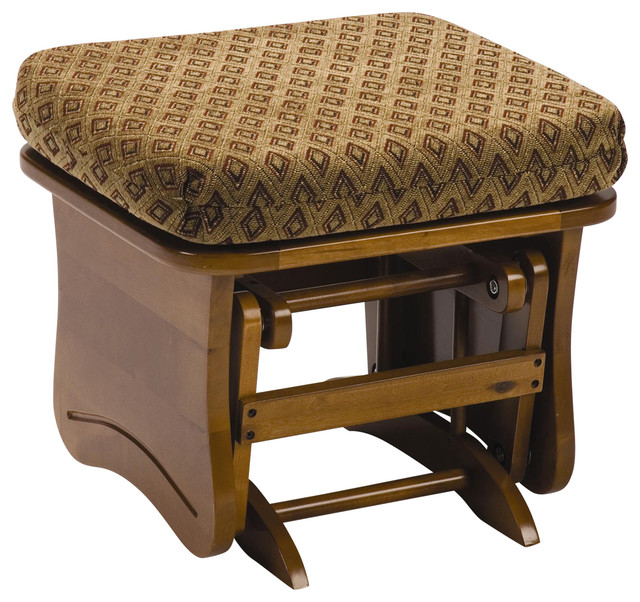 Maple Gliding Ottoman Traditional Footstools And
