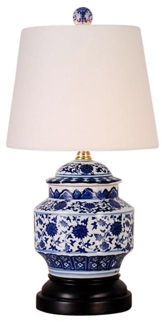 Blue And White Porcelain Fl Ginger, Blue And White Ginger Jar Lamps Uk