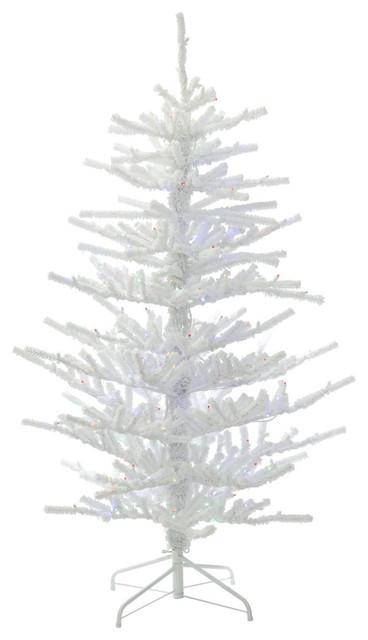 Contemporary Christmas Tree.Flocked Twig Christmas Tree 500 Led Multi 7 5 X58