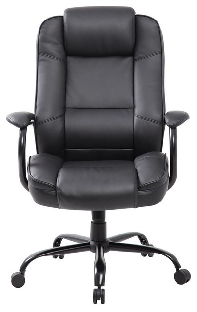 heavy duty executive chair in black contemporary