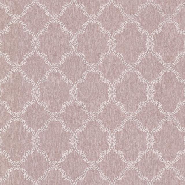 Neutral Trellis Wallpaper: Daniela Mauve Filigree Trellis Wallpaper