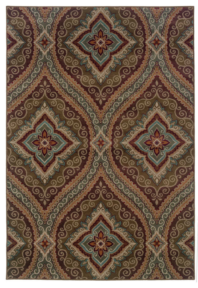 Oriental Weavers Highlands 110 x 3 Machine Woven Rug in Gray
