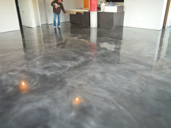 Gray Concrete Flooring : Stained concrete floors