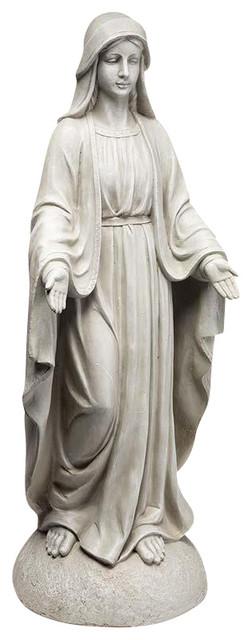 Madonna Of Notre Dame Garden Statue Mediterranean Garden Statues And Yard