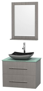 Bathroom Vanity Set In Gray Oak With Altair Black Granite Sink Bathroom Van
