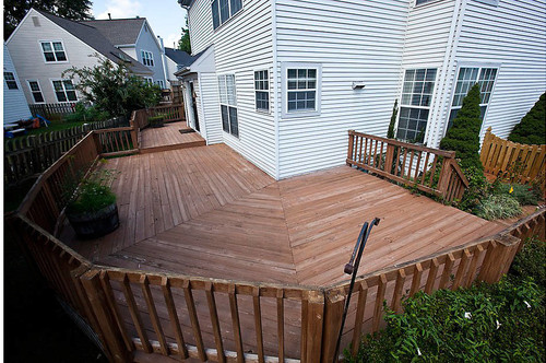 wrap around deck designs before and after wrap around deck makeover featuring trex 22774