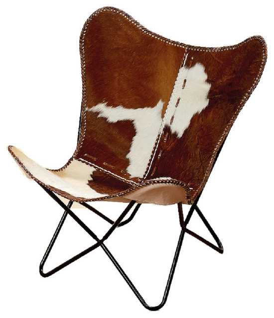 Iconic Butterfly Sling Chair With Hand Top Stitching And Cow Hide  Contemporary Armchairs