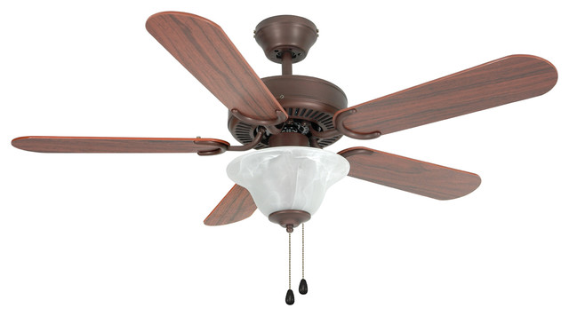 2 Light 42 Wyndham Triple Ceiling Fan Maple Cherry