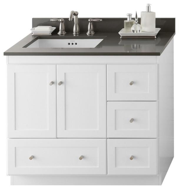 """Ronbow Bathroom Sinks ronbow shaker solid wood 36"""" vanity set with ceramic sink"""