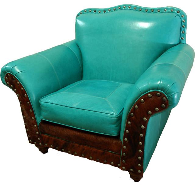 Quot Albuquerque Quot Turquoise Club Chair Contemporary