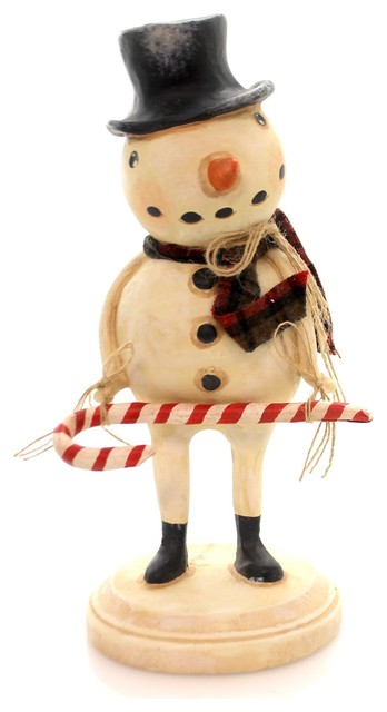 f84667996 Karen and Mary Hammerschmidt Wagner's Candy Cane Snowman Christmas 61150 -  Contemporary - Holiday Accents And Figurines - by Story Book Kids Inc