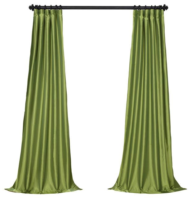 "Fern Fauxsilk Taffeta Curtain Single Panel, 50""x84""."