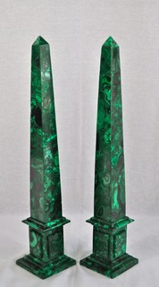Malachite Obelisks eclectic accessories and decor