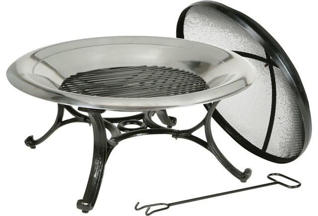 Kay Home Products Round Stainless Steel Fire Bowl View