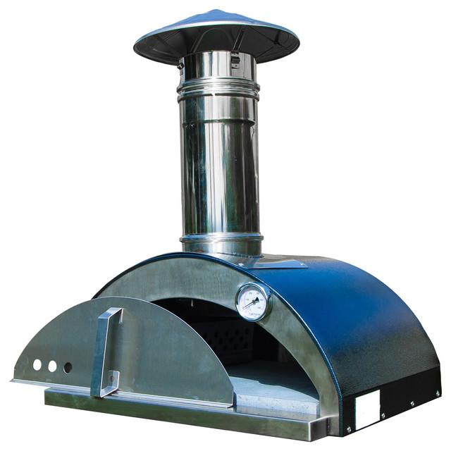 Nonno Lillo Wood-Fired Outdoor Pizza Oven, Anthracite.