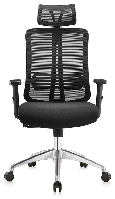 Fcd Mesh Ergonomic High Back Extra Thicker Padded Swivel Office Chair, Black.