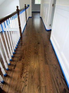 East Hampton Red Oak Refinished With Jacobean Stain
