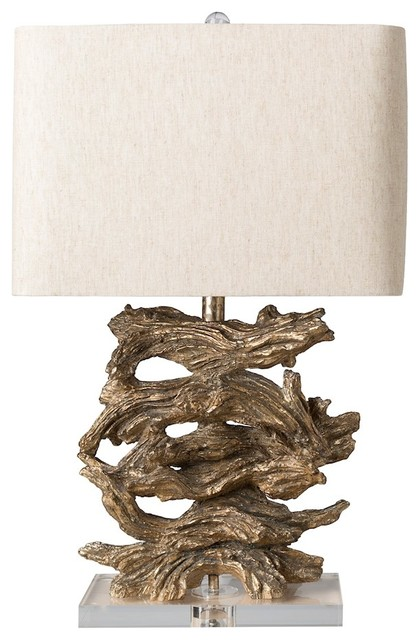 Ballard Table Lamp By Surya, Hand Finished Base/Beige Shade, BAD 100