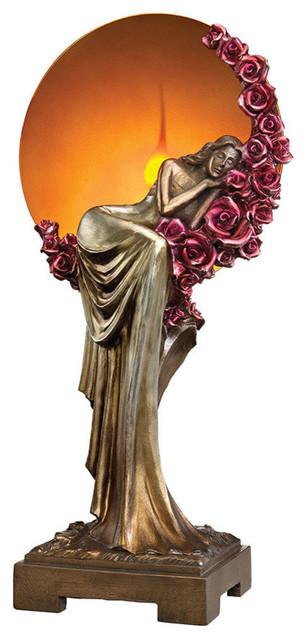 Elegant Slumber Art Deco Illuminated Sculpture.
